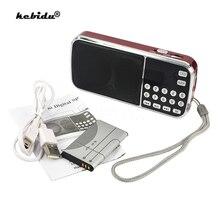 Kebidu Mini haut parleur MP3 lecteur Audio lampe de poche amplificateur Micro SD TF FM Radio mode L 088 haut parleur HIFI Portable
