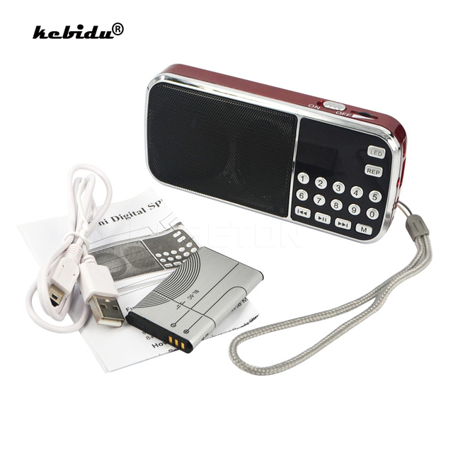 kebidu Mini Speaker MP3 Audio Player Flashlight Amplifier Micro SD TF FM Radio Fashion L 088 Portable HIFI Speaker