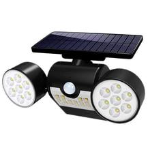30Led Motion Sensor Solar Light Bulb Foco Led Exterior Dual Head Spotlight Garden Wall IP65 Emergency