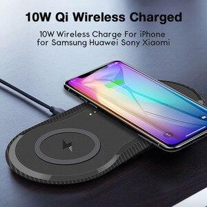 Image 1 - 10W כפול QI מטען אלחוטי Pad עבור IPhone 11 X XR XS מקסימום 8 בתוספת Samsung Galaxy S10 Xiao mi mi 9 מהיר אלחוטי טעינת Dock