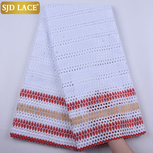 SJD LACE New Arrivals African Lace Fabric With Holes Cotton Lace High Quality Swiss Voile Lace In Switzerland For Wedding 1894B(China)