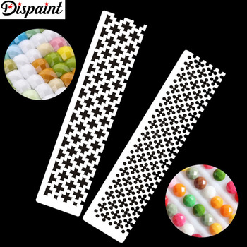 Dispaint DIY Diamond Painting Tools Drawing Ruler Square Round Drill Diamond Embroidery Accessory Stainless Steel