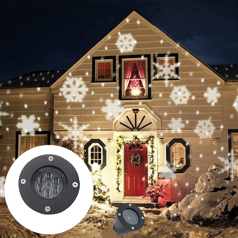 Z25 Outdoor Snowflake LED Stage Snow Lights Waterproof Light Christmas Holiday White & RGB Color Lighting Party 220V 110V
