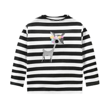 Baby Sweater Autumn Cotton Children\s Long Sleeve Casual Striped Elk Girl Clothes tops #25