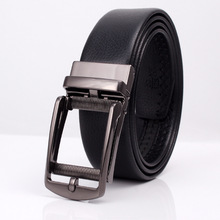 2019 Mens Automatic Belt Buckle Fake Needle Leather Business Casual Clip Trousers Dress