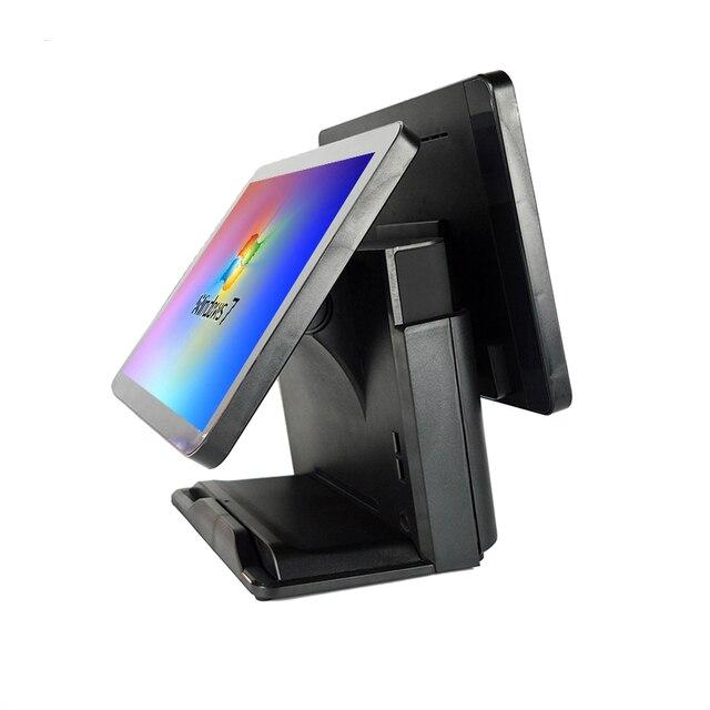 Terminal de point de vente pour Windows 15 + 15 pouces, système d'affichage, écran d'affichage, solution Epos tout-en-un 1