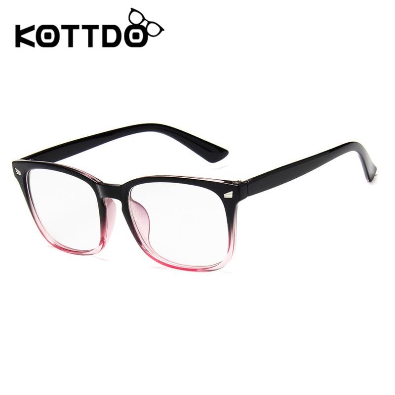 KOTTDO Classic Square Eye Glasses Frame Women Fashion Retro Plastic Eyewear Optical Glasses Frame Uv400 EyeGlasses Frames Men