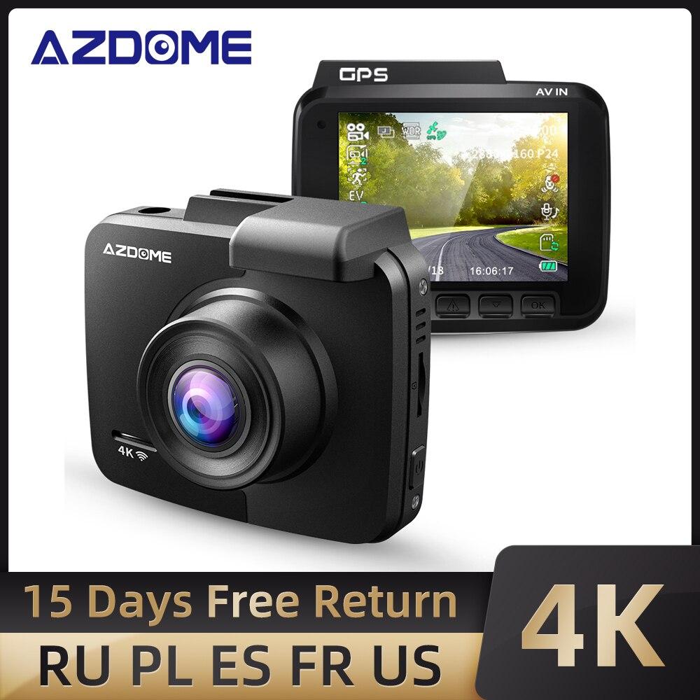AZDOME-Cámara de salpicadero GS63H, lente Dual 4K UHD, grabación, Super visión nocturna, WDR, GPS integrado, wifi, Sensor G