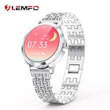 LEMFO LW07 Smart Uhr Frauen 1,09 Zoll 2,5 D DIY Uhr Gesicht IP67 Wasserdichte Dame Smartwatch 2020 Für Android IOS telefon Uhr