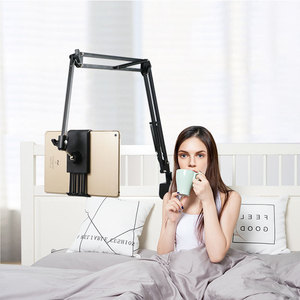 Image 2 - For IPad Pro AIR Samsung S5e 10.6 Inch Tablet Holder Stand Lazy Bed Desk Tablet Mount Support Cell Phone Bracket For Iphone X XS
