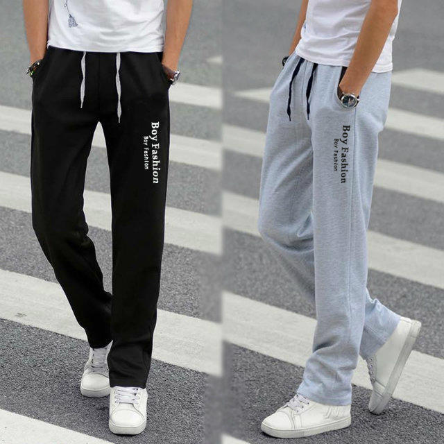 Men'S Wear Casual Athletic Pants Korean-style Teenager Versatile Trousers Men's Straight-Cut Loose-Fit Sweatpants Fashion Studen