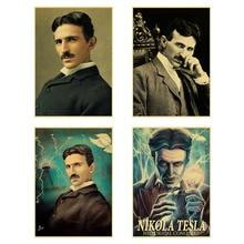 5D DIY Diamond Painting Vintage Poster Style Nikola Tesla Mosaic Art Scientist Celebrity Home Room Decor
