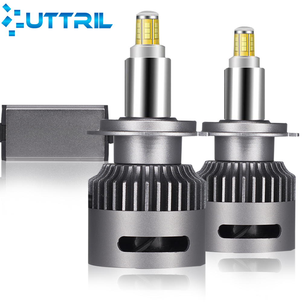 Uttril 2 Pcs 20000LM Canbus H7 <font><b>LED</b></font> Car Headlight H1 H8 <font><b>H9</b></font> H11 <font><b>LED</b></font> Bulb 9005 9006 9012 3D <font><b>360</b></font> Degree Automotive Fog Lights 12V image