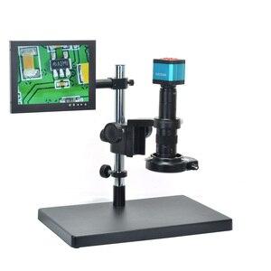 14-мегапиксельная камера для микроскопа, HDMI HD USB цифровая промышленная видео большая стойка 180X объектив 144 светодиодный светильник для ремон...