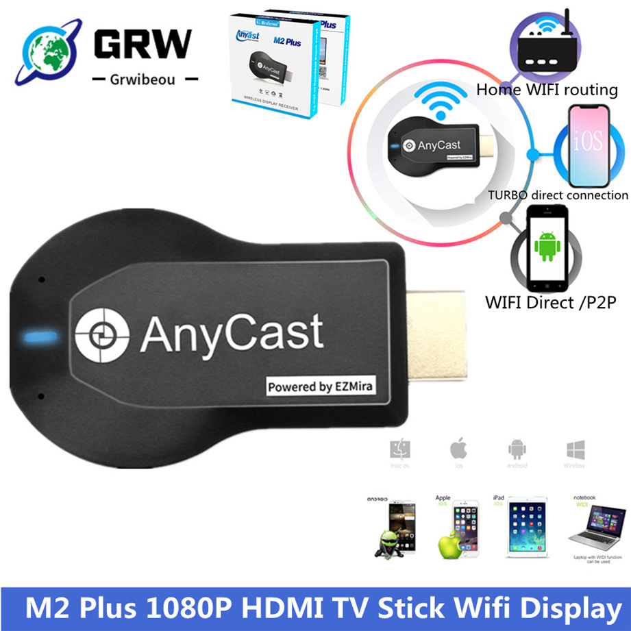 M2 Plus TV Stick Wireless WiFi Display Receiver TV Dongle 1080P Screen HDMI-compatible For DLNA Miracast For AnyCast For Airplay
