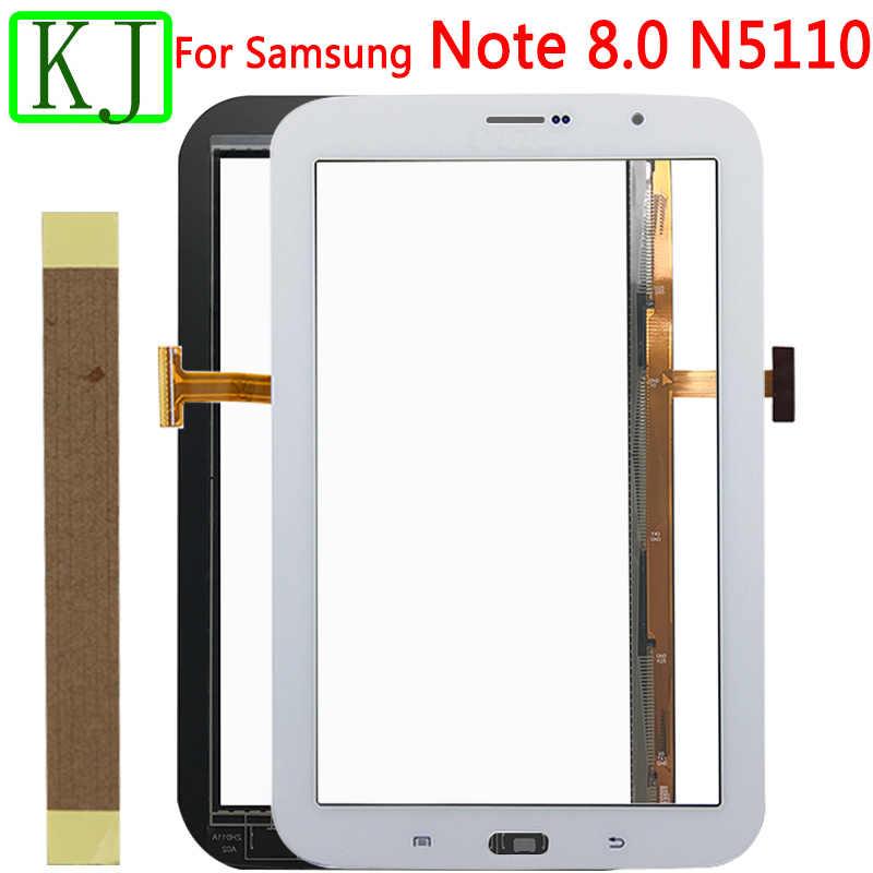 جديد N5100 الجبهة لوحة شاشة لمس لسامسونج غالاكسي نوت 8.0 N5110 اللوحي محول الأرقام اللمس الجبهة زجاج الاستشعار 3G و Wifi