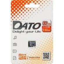 Карта памяти microSDHC UHS-I DATO 32 ГБ, 80 МБ/с, Class 10, DTTF032GUIC10, 1 шт.