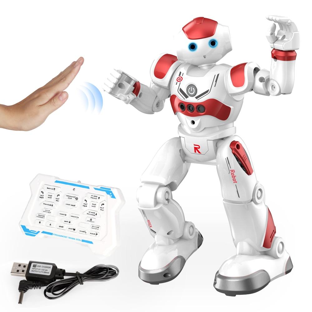 Интеллектуальный робот-головоломка с дистанционным управлением для раннего обучения, детская игрушка для мальчиков, индукционный жест с USB-зарядкой 3