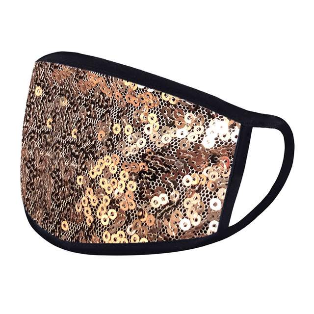 #H40 Fashion Sequin Face Mask Women Dustproof Windproof Face Mouth Mask Breathable Reusable Washable Cycling Mask 4