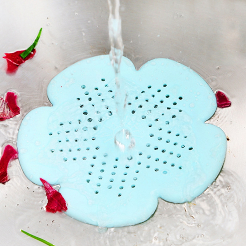 Silicone Mesh Kitchen Drains Sink Strainers Filter Sewer Hair Catcher Bathroom Clean Tool Floor Sieve Drain Filter Mat Gadgets
