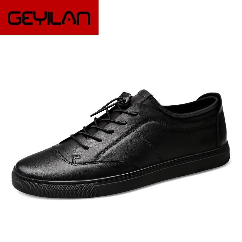 men genuine leather first grade cow leather shoes men's flats spring autumn men casual fashion man shoes plus size 38-46 k3