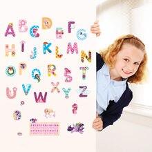 6 стилей Дисней marvel мультфильм 26 букв алфавит наклейки на