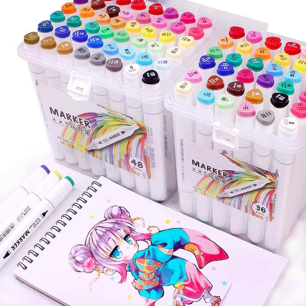 TOUCHNEW Marker Pens 80 Coloured Manga Graffiti Twin Tip Highlighter Graffiti Pens Set for Artists Sketch Markers