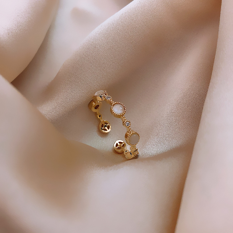 2020 South Korea New Fashion Open Ring Women Light Luxury Fashion Trend Simple Small Circle Index Finger Ring(China)