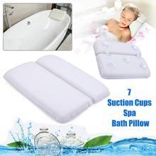 Сетчатая дышащая подушка для ванной Нескользящая домашняя подушка для ванны Спа Подголовник Экологичная мощная присоска подушка для ванны гидромассажная Ванна