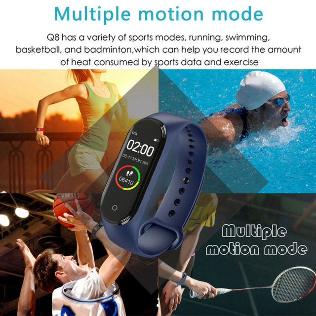 Women Digital Watch Bracelet with Heart Rate Monitoring Running Pedometer Calorie Counter 3