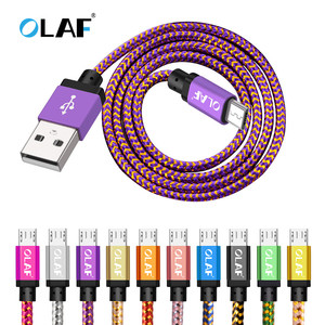 OLAF Micro USB Cable 1m 2m 3m Fast Charge USB Data Cable for Samsung S6 S7 Xiaomi 4X LG Tablet Android Mobile Phone USB Charging(China)