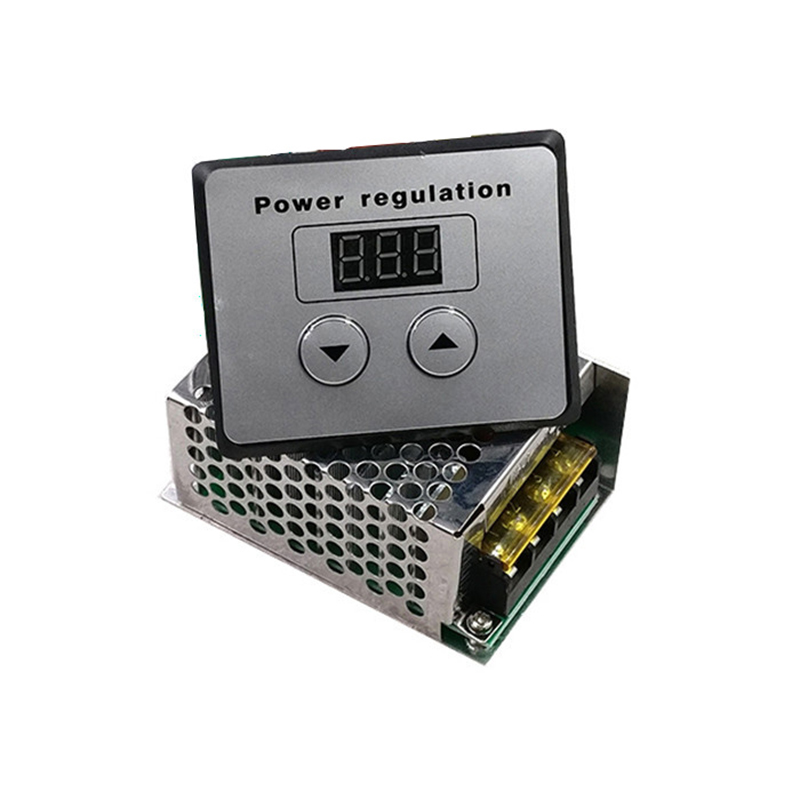 <font><b>AC</b></font> <font><b>220V</b></font> SCR <font><b>Voltage</b></font> Power <font><b>Regulator</b></font> Dimmer 4000W Electric Motor Speed Temperature Controller For Electric Furnace Water Heater image