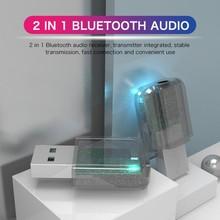 цена на USB Bluetooth 5.0 Adapter Transmitter Bluetooth Receiver Audio Bluetooth Dongle Wireless USB Adapter For Computer PC