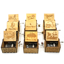 New crank queen carved wooden hand anonymous music box 2019 Zelda kids / friends Christmas gift a birthday present