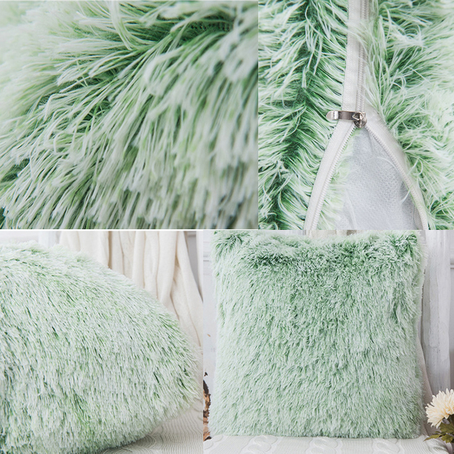 Soft Fur Pillows Case Plush Cushion Cover Home Decor Pillow Covers Living Room Bedroom Sofa Decorative Pillows Cover 43x43cm New 3