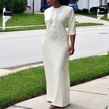 Wit afrikaanse vrouwen jurken dashiki borduurwerk plus size dames afrikaanse jurken robe africaine maxi jurk 3xl 4XL sjaal hearwrap
