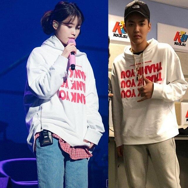 IU Hoodies Sweatshirt KPOP IU Cap Hoodie Lee Ji Eun Pullover and 50 similar items Thanks Hoodie from K-STAR Unisex Cap Hoodie 2