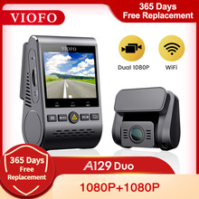 Auto Dvr Dash Cam Met Achteruitrijcamera Auto Video Recorder Full Hd Nachtzicht 2 Camera Recorder Met G-Sensor A129DUO Dashcam