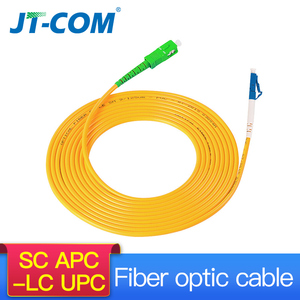 Image 1 - Free shipping!10Pcs SC LC 3M Simplex Single Mode Fiber Optic Patch Cord SC/APC LC/UPC 3M 2.0mm 3.0mm FTTH Fiber Patch Cable
