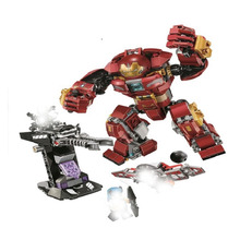 10832 Hulkbuster Smash-up Middle Edition Turret Model Building Blocks Toys For Children Brick Compatible With Lepining 76104