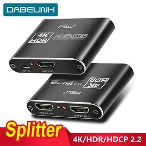 Image 1 - مقسم الوصلات البينية متعددة الوسائط وعالية الوضوح (HDMI) 2.0 4K @ 60Hz الجلاد 1X2 HDR 4K كامل HD فيديو HDMI إلى HDMI التبديل محول 1 في 2 خارج مكبر للصوت للتلفزيون DVD PS3 Xbox
