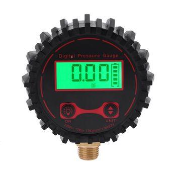 "Indicador Digital de presión de neumáticos LCD con linterna 3-250 PSI 1/4 ""conector para coche camión bicicleta neumático inflador medidor de presión"
