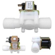 """1/"""" пластиковый электромагнитный клапан 12 в 24 В 220 В Магнитная стиральная машина питьевой Диспенсер водяной пневматический переключатель регулятора давления"""