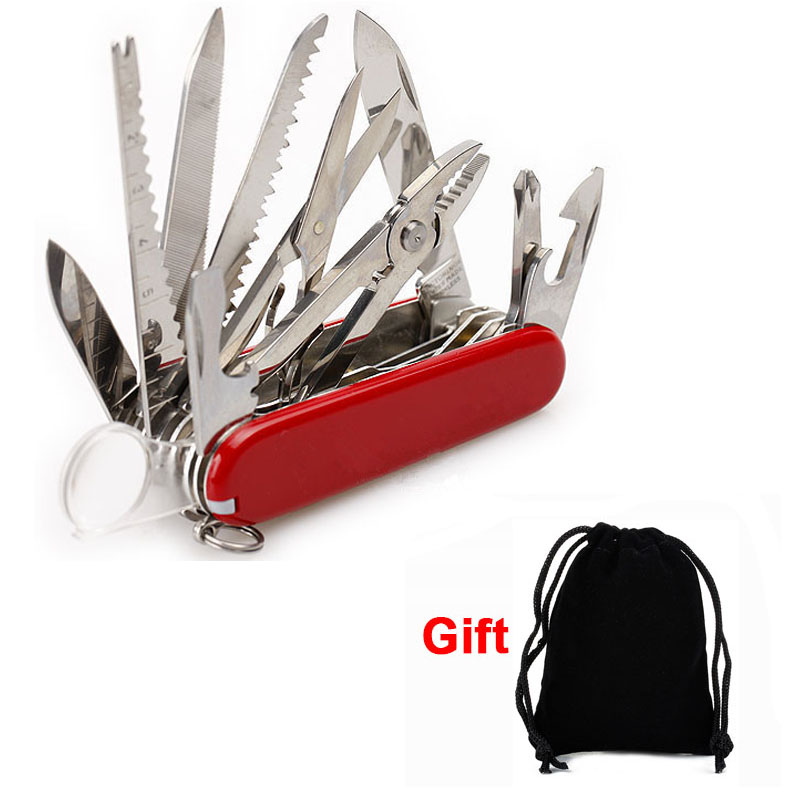 UNeeful Multifunction Folding Swiss Pocket Knife Army Survival Outdoor Camping Tool Stainless Steel Pocket-Size Hunting knives(China)