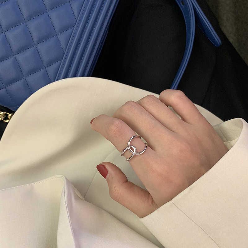 AOMU 1PC 2020 אופנה זהב מתכת טבעות לנשים גיאומטרי צלב טוויסט מינימליסטי טבעת תכשיטי מפלגה מתנות