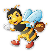 Funny bees carry honey car sticker automobiles motorcycles exterior