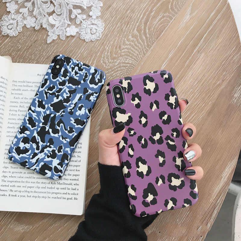 Роскошный модный Леопардовый Мягкий чехол для iPhone X XR XS Max черный синий розовый чехол для телефона чехол для iPhone 6 6s 7 8 Plus