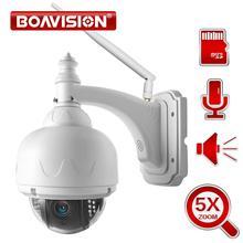 BOAVISION Wireless Cupola di Velocità del IP Wifi Della Macchina Fotografica HD 1080P 2MP PTZ di Sicurezza Esterna del CCTV 2.7 13.5mm Auto messa a fuoco 5X SD Card Zoom ONVIF