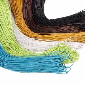 90m/lot Dia 1mm Cotton Waxed Cords Thread Fit Bracelet Necklace Beading Cord String Thread Rope For DIY Jewelry Marking Findings