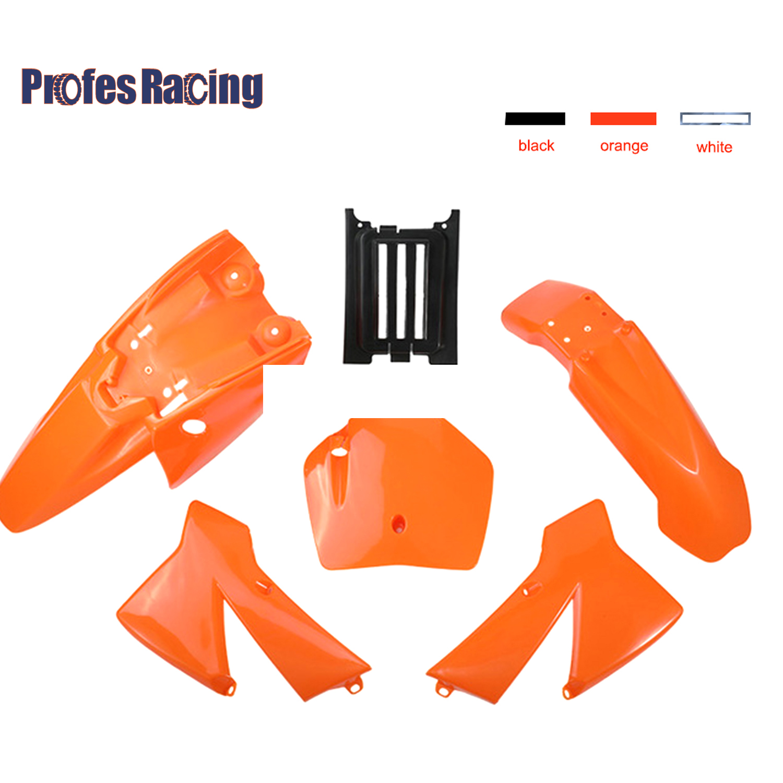 Nouveau Kit de garde-boue de corps en plastique 3 couleurs pour SX 50CC 50 50SX Mini aventure Junior Adventur 2003-2008 vélo de saleté